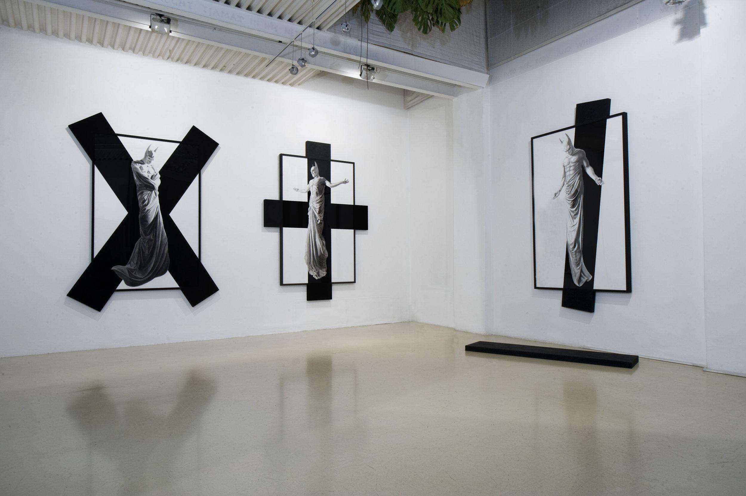 In Excelsis , 2011 . Studio Stefania Miscetti, Rome. Installation view. Photo: Humberto Nicoletti Serra