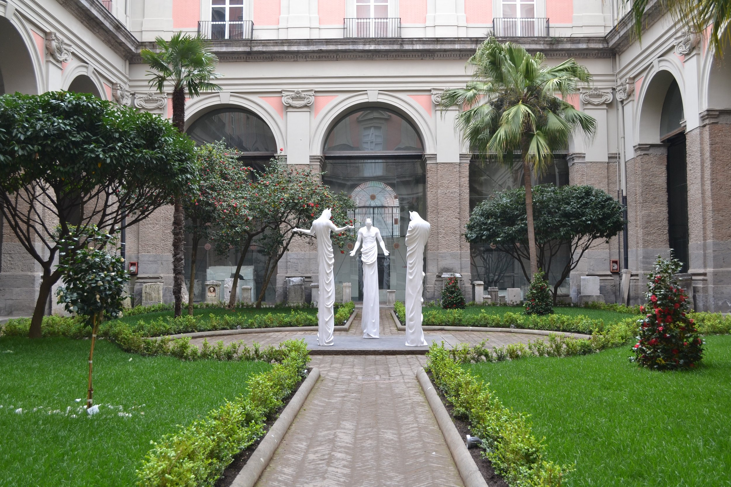 In Excelsis , 2013 . MANN - Museo Archeologico Nazionale di Napoli, Naples 2016. Installation view. Photo: Studio Adrian Tranquilli