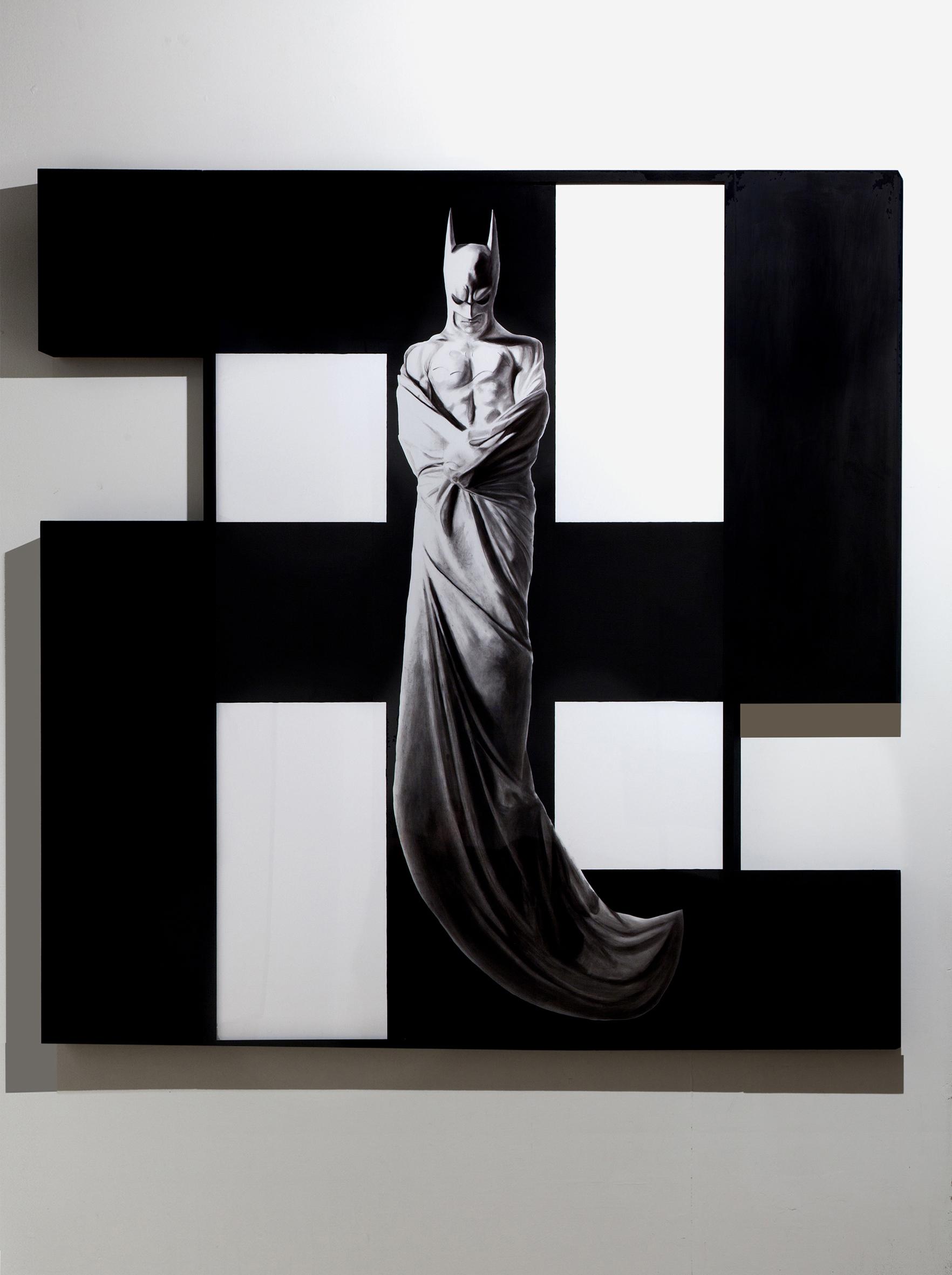 In Excelsis 6 , 2011 . Charcoal, paper, wood, enamel paint, 225 x 232,5x7 cm. Photo: Claudio Abate