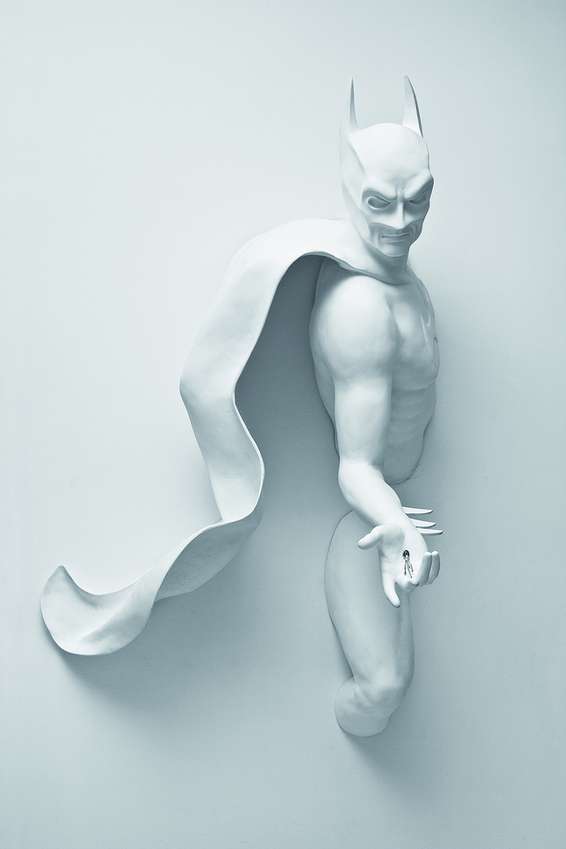 THIS IS NOT A LOVE SONG 10 , 2010 . Fiberglass and silver, 150x90x76 cm. Photo: Claudio Abate