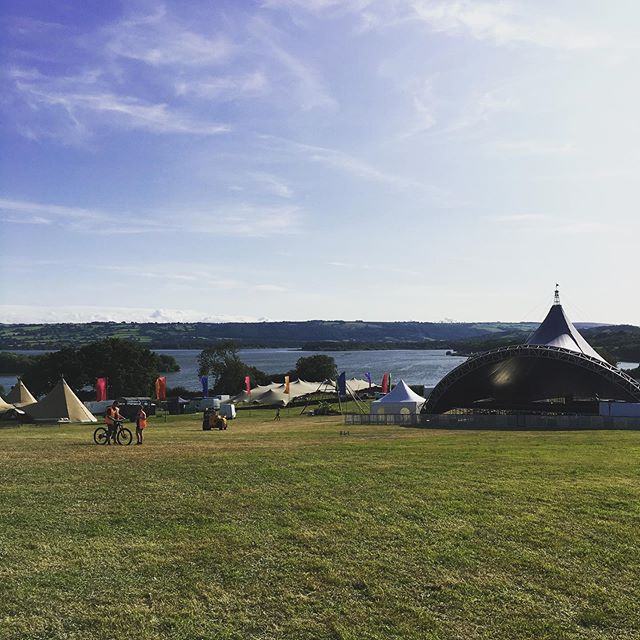 Valleyfest setup.  Come on! Views don't get much better than that!!