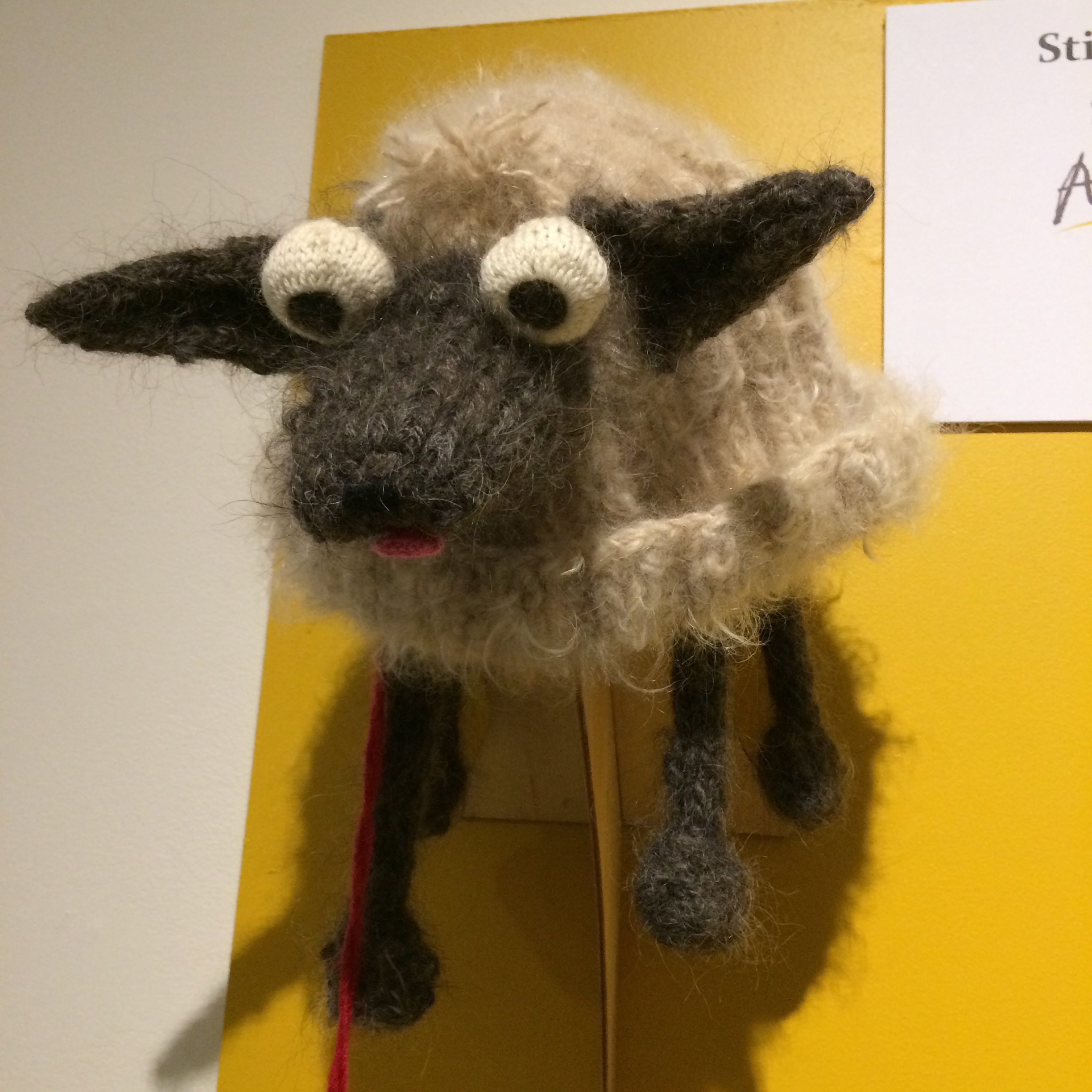 """Peoples Choice Winner """"Mutt"""" - made from the makers' dogs' hair"""