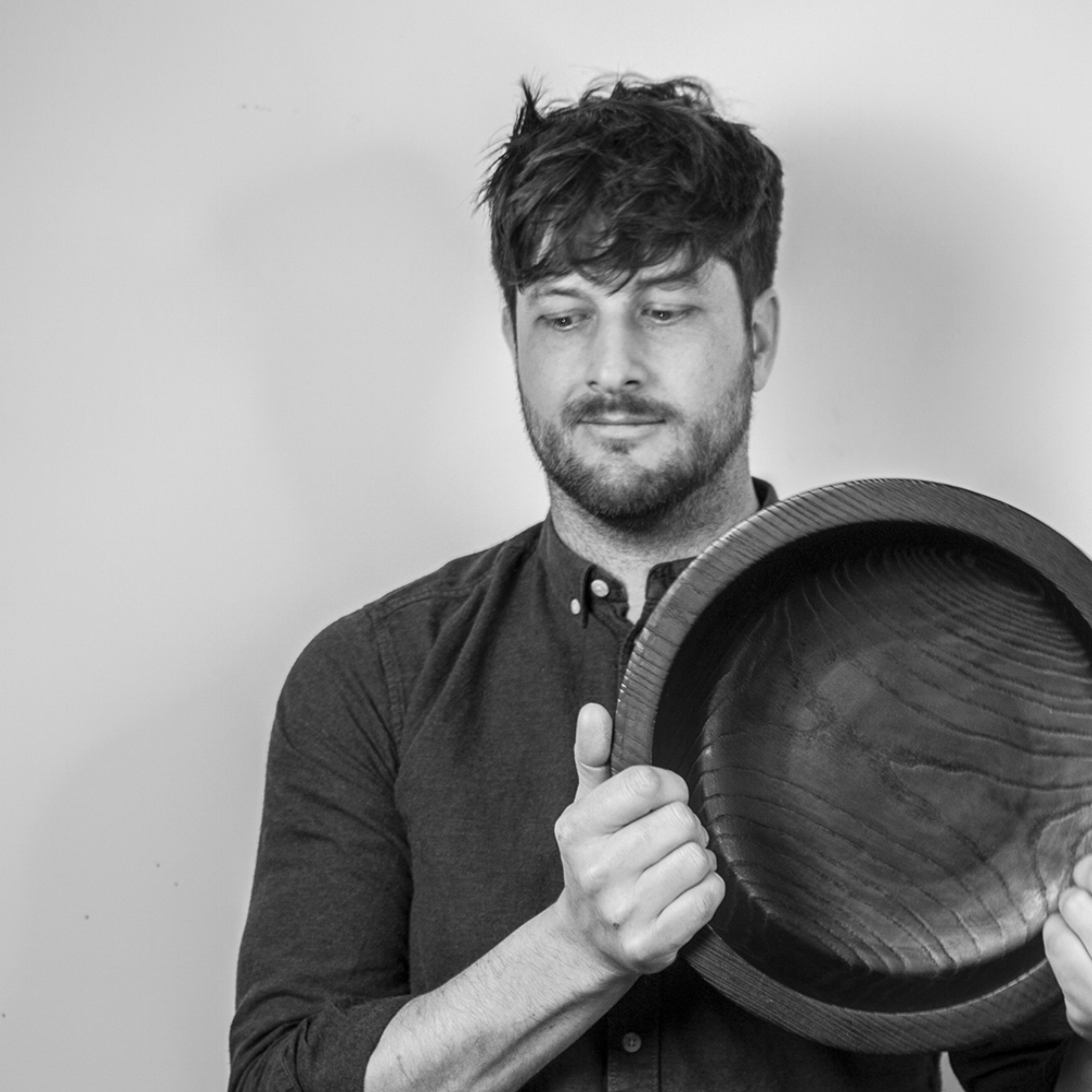"""Alex Carpenter - Working with LLL since 2018   Alex has worked as a designer and maker for over 10 years, developing homewares for national retailers but took a step away from the mass produced and into a re-connection with product by making once again. He works mainly with timbers which are locally sourced from the Devon landscape and combines traditional and modern craft techniques with contemporary design and a playfulness of form, texture and attention to detail.   Look Like Love Asks….    Whose work are you most inspired by?  - Right now it's Pat Kim; the playful and strong forms and bold finishes are super pleasing.   What is your favourite time of the day to get inspired?  - Whenever """"that"""" idea you've been striving for just pops into your head when you least expect it; which more often than not, is not even when you're trying to think about it.   Best snack for studio days?  - Coconut water and organic crunchy peanut butter with banana on a cracker; a proper energy booster!"""