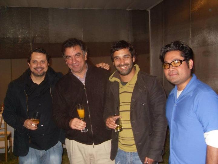 Con Laca, Jano y Bernie en el 2010
