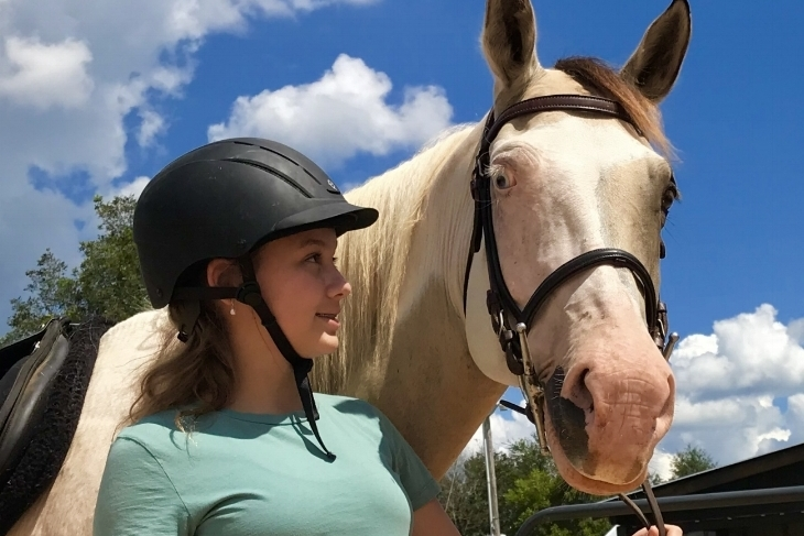 Private Lesson - $40* Per Rider30 Minutes - 1 RiderEnglish, Western, Jumping, Bareback, ObstacleAges 5 plus, Beginner-Advanced, Up to 200 lbs*Reflects $5 Discount for Monthly Package