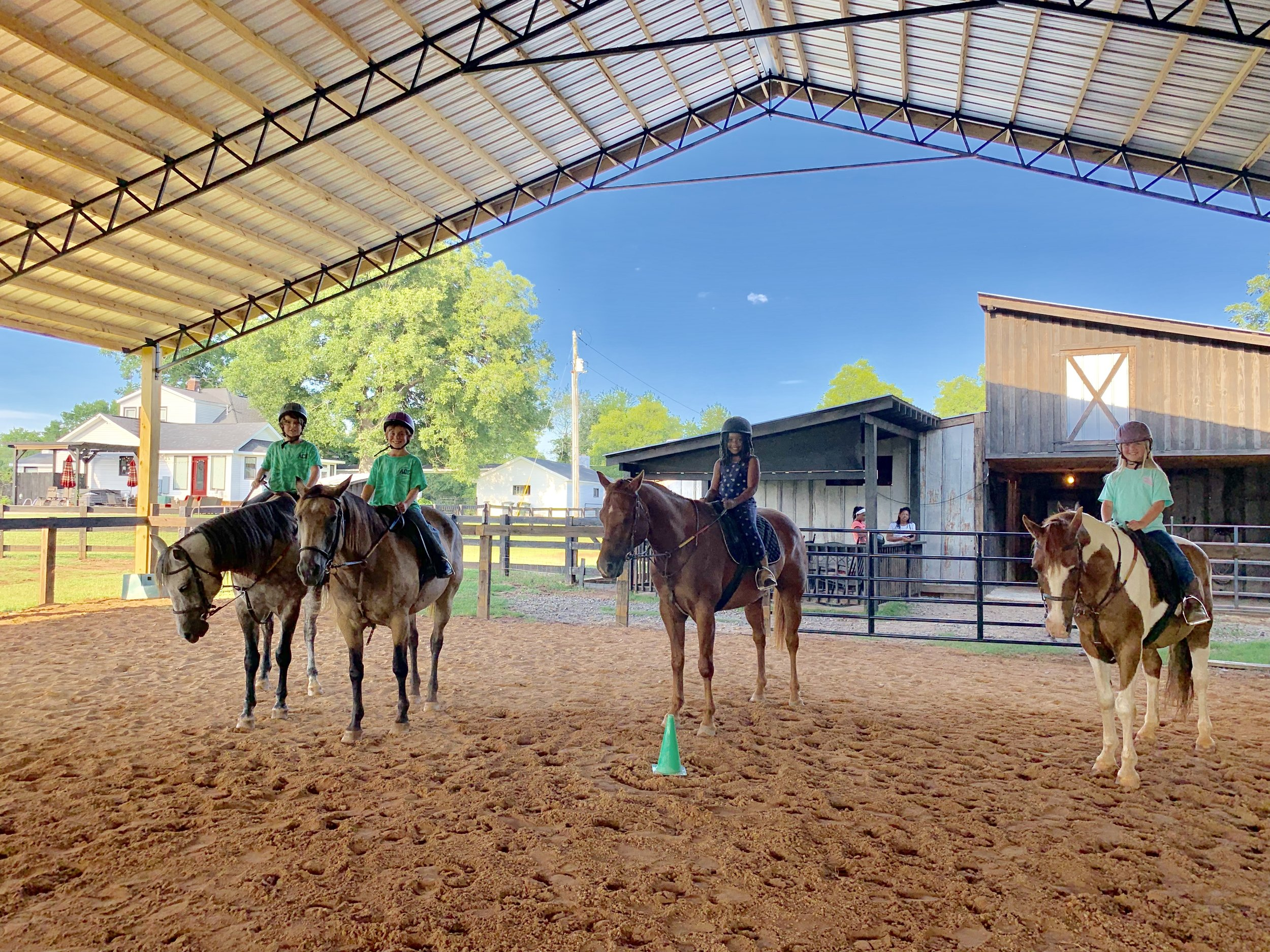 Group Lesson - $40* Per Person60 Minutes - 3 or More RidersEnglish, Western, Jumping, Bareback, ObstacleAges 5 plus, Intermediate-Advanced, Up to 200 lbs*Price Reflects $5 Monthly Package Rate