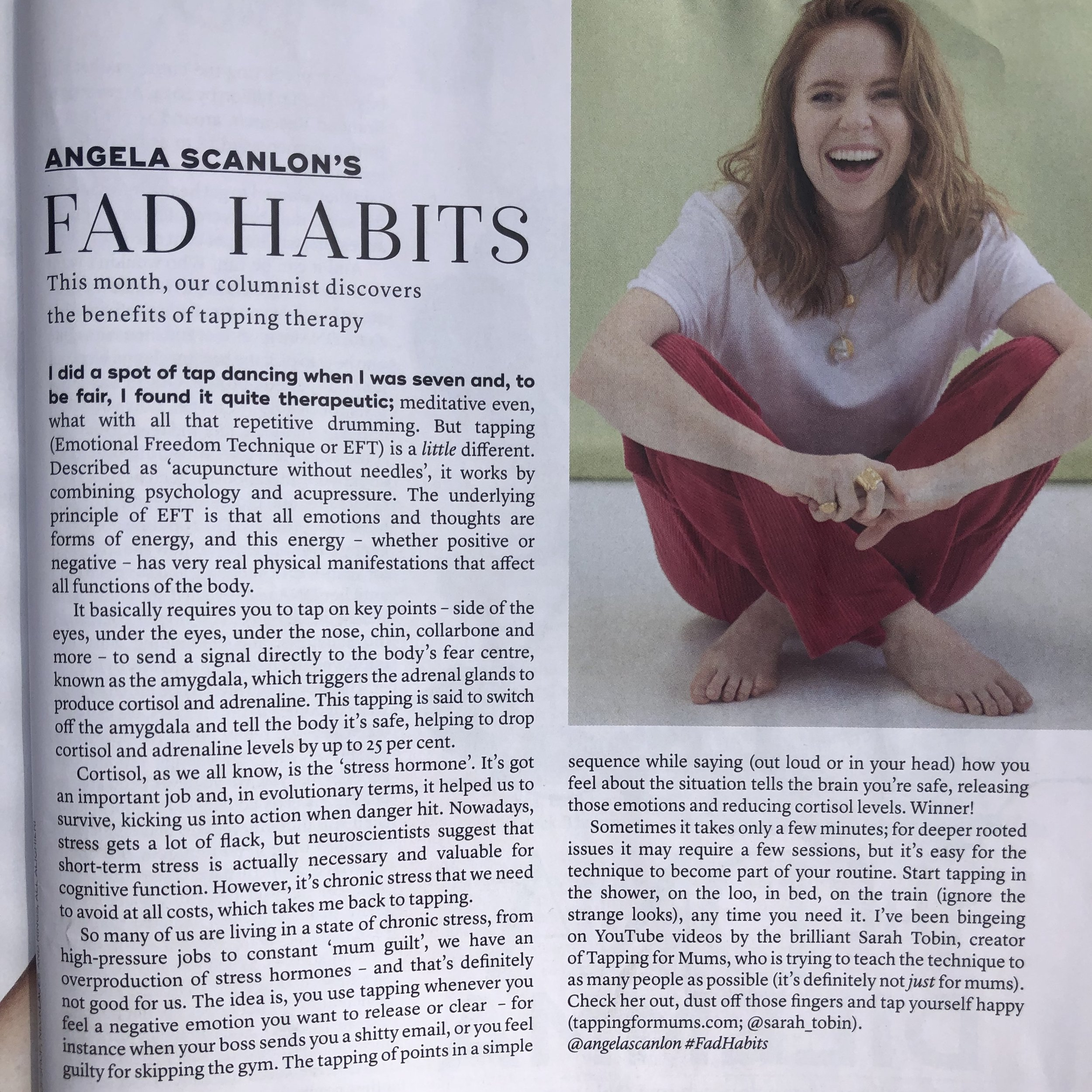Angela Scanlon Column, Marie Claire, May 2019