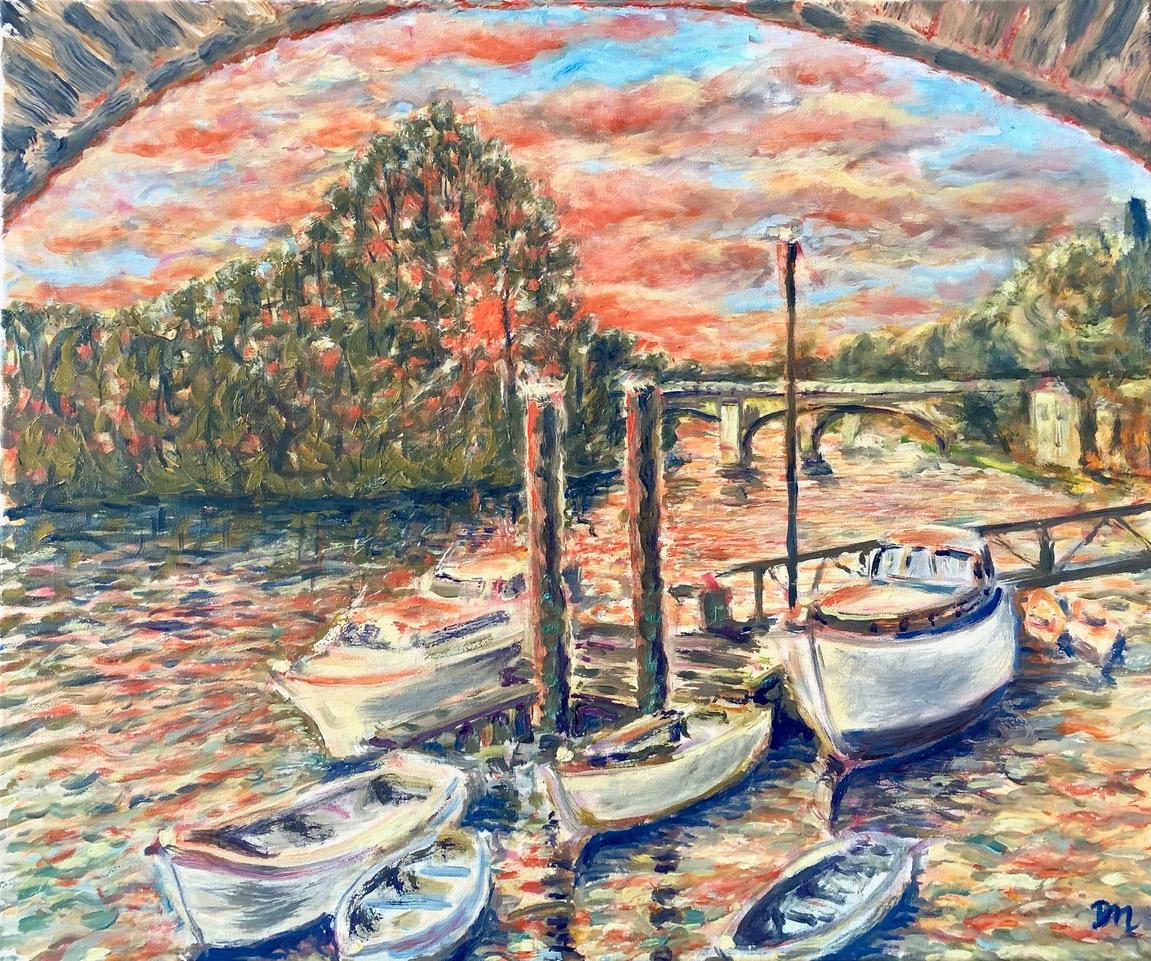 Sunset Under Richmond Bridge
