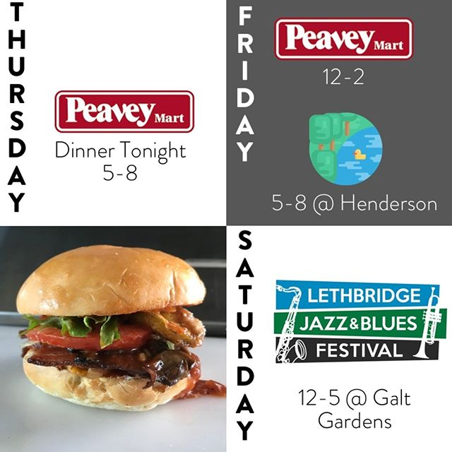 Grandma Di has been gone for the past few days welcoming the newest beautiful member of the family🤱  But, it's back to serving up delish local food to you wonderful ppl!😉 🍔Dinner tonight @ Peavy Mart, 5pm 🍔 It's going to be an awesome weekend! Come and hang out with us over the next few days and all summer long.🌞 #grandbabiesandburgers #grandmascookin #burgers #fries #albertabeef #vegantoo #alberta #foodtruck #lethbridge