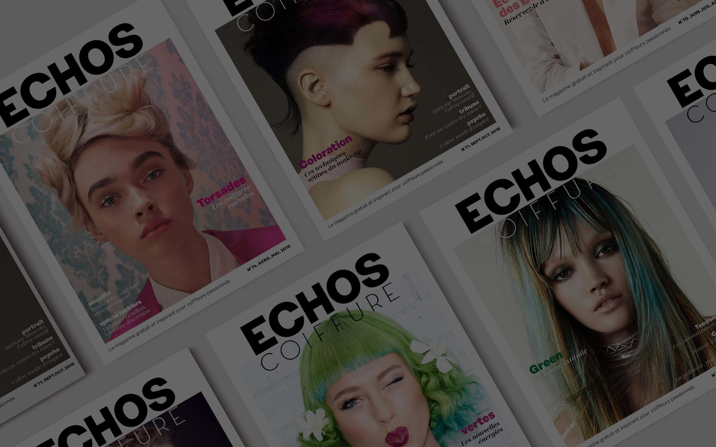 ECHOS coiffure est le magazinele plus lu des coiffeurs de France - Le recevez-vous ?