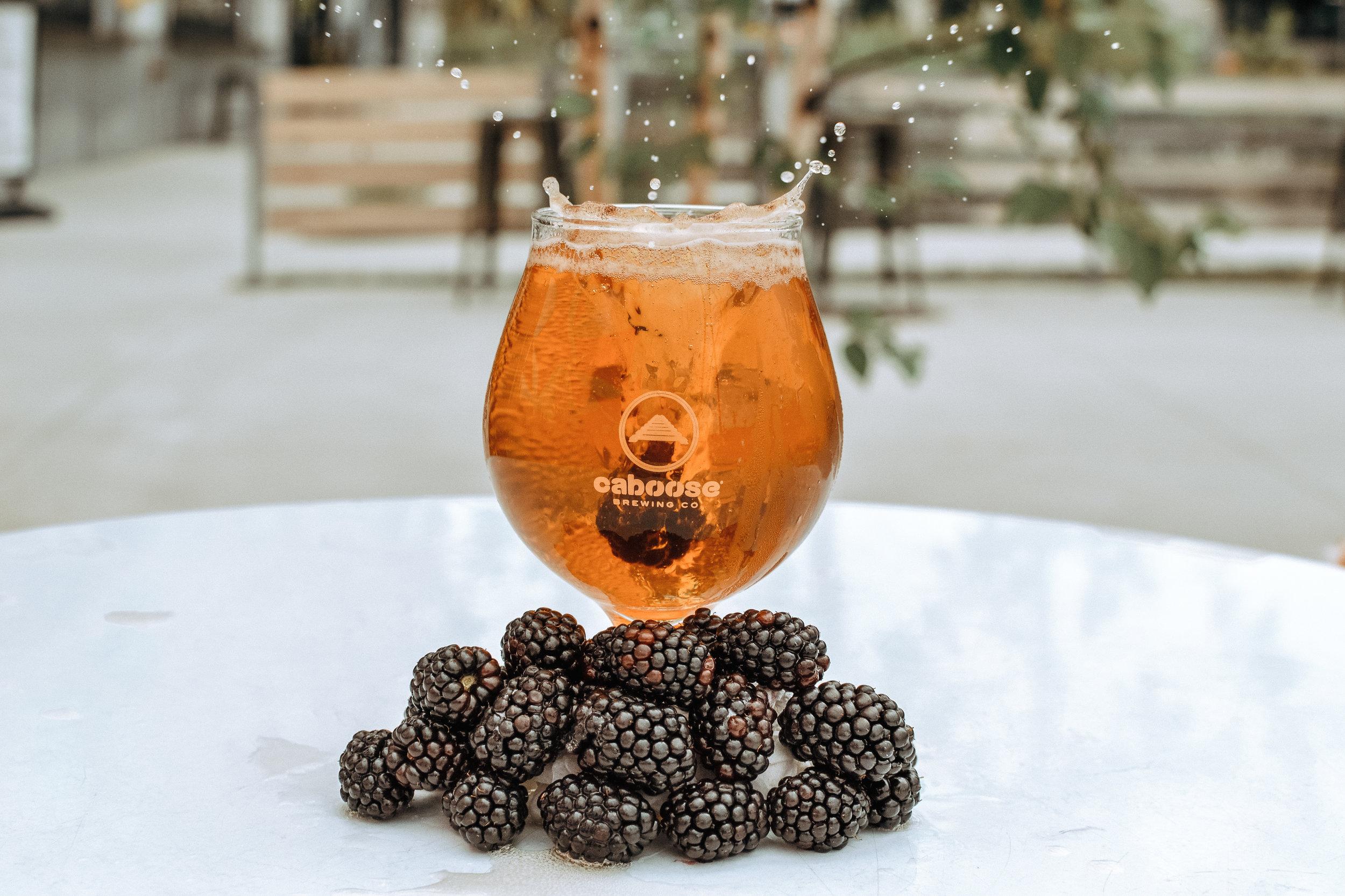 Gose with Blackberries