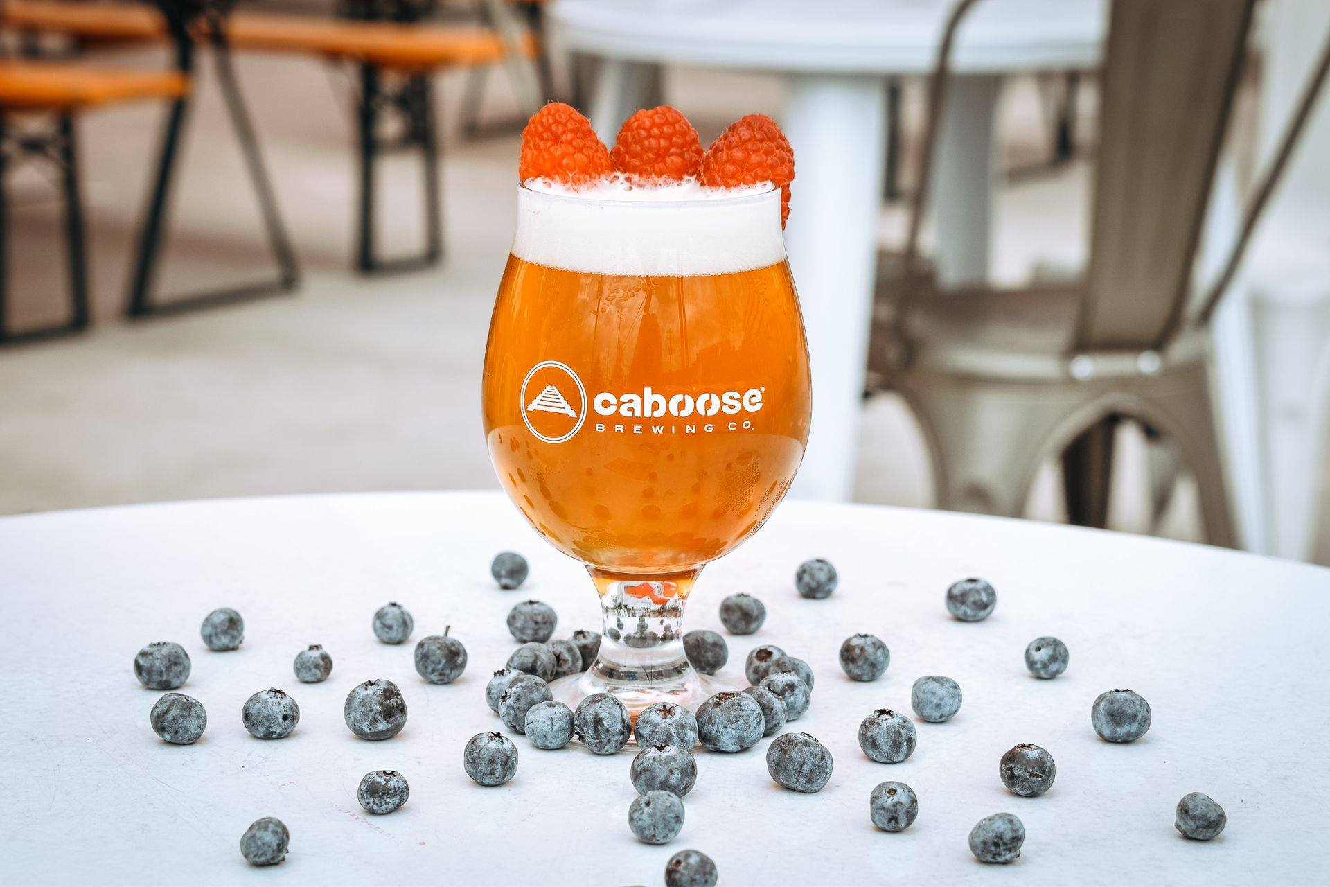 Fog IPA with Raspberries and Blueberries