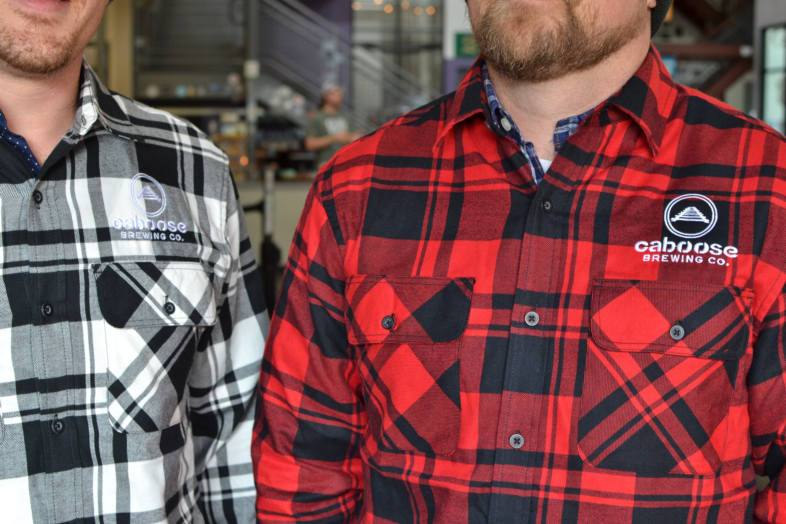 Red and White Flannels - $50