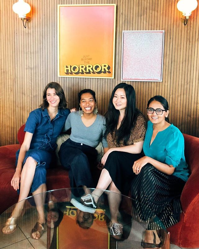 A beautiful morning of sharing and story telling with these goddesses and fierce female food entrepreneurs. Feeling incredibly empowered by their strength, perseverance and passion, and thankful for the community we are  building together ✊🏻 @sohohouse @sanajaverikadri @helloaishwarya @alexisdeboschnek