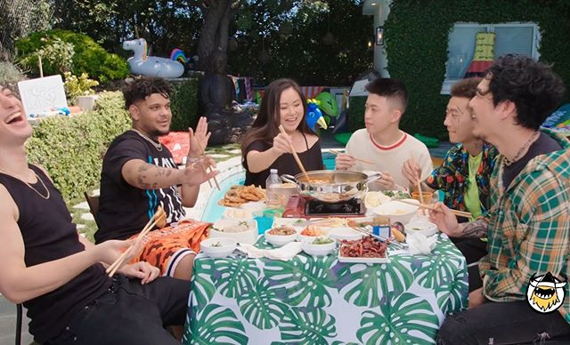 Out now @firstwefeast Feast Mansion wherein I teach rappers how to pull noodles 🍜 and eat pig brain 🧠 🌶@brianimanuel @sushitrash @higherbrothers @dumbfoundead @smokepurpp
