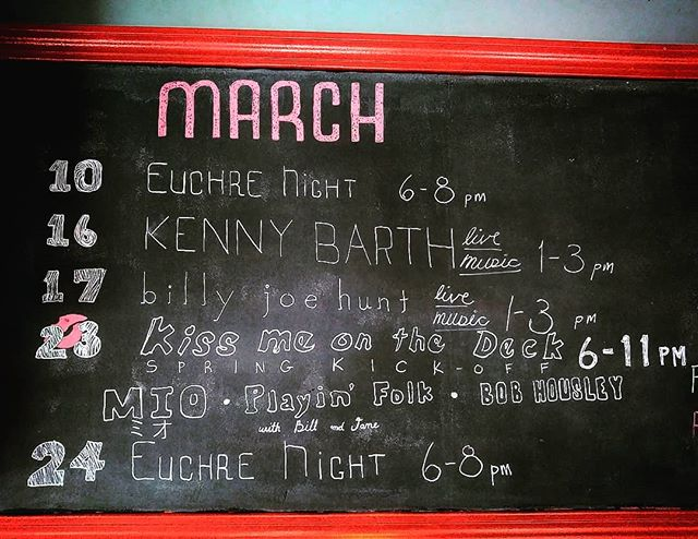 March is shaping up nicely! Don't miss our big spring break kick-off on the 23rd, where we will be hosting until 11pm. Weather permitting, we will have three amazing acts out on the deck!  #specialtycoffee #livemusic #euchrenight #coffeewithfriends #springbreak2019