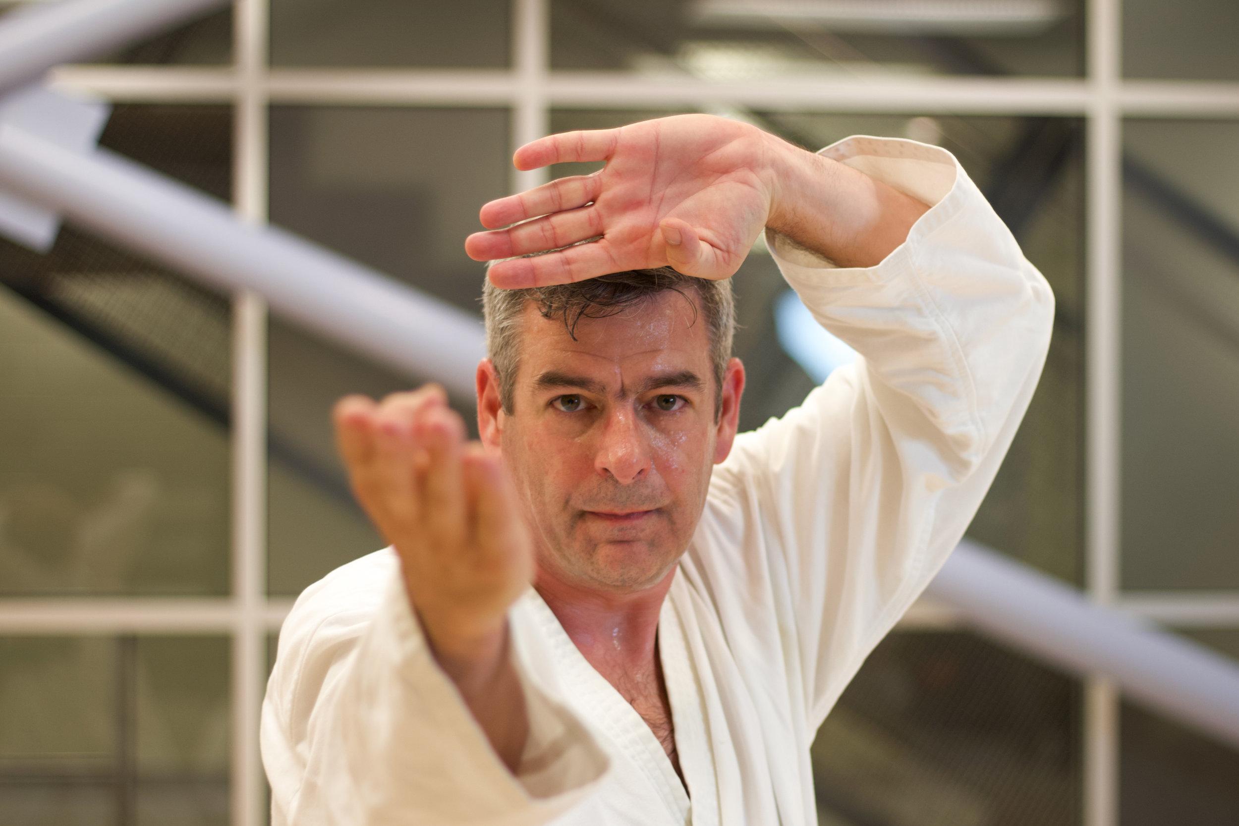 - 11. Karate is just like hot water; if you do not give it continuous heat, it will become cold— Karate Wa Yu No Gotoku Taezu Netsu O Atae Zareba Motono Mizuni Kaeru12. Do not think that you have to win; think, rather, that you do not have to lose— Katsu kangae wa motsuna; makenu kangae wa hitsuyo13. Move according to your opponent— Tekki ni yotte tenka seyo14. In conflict you must discern the vulnerable from invulnerable points— Tattakai wa kyo-jitsu no soju ikan ni ari15. Consider you opponent's legs and arms as you would lethal swords— Hi to no te-ashi wa ken to omoe16. Be aware at all times that you have millions of potential opponents— Danshi mon o izureba hyakuman no teki ari