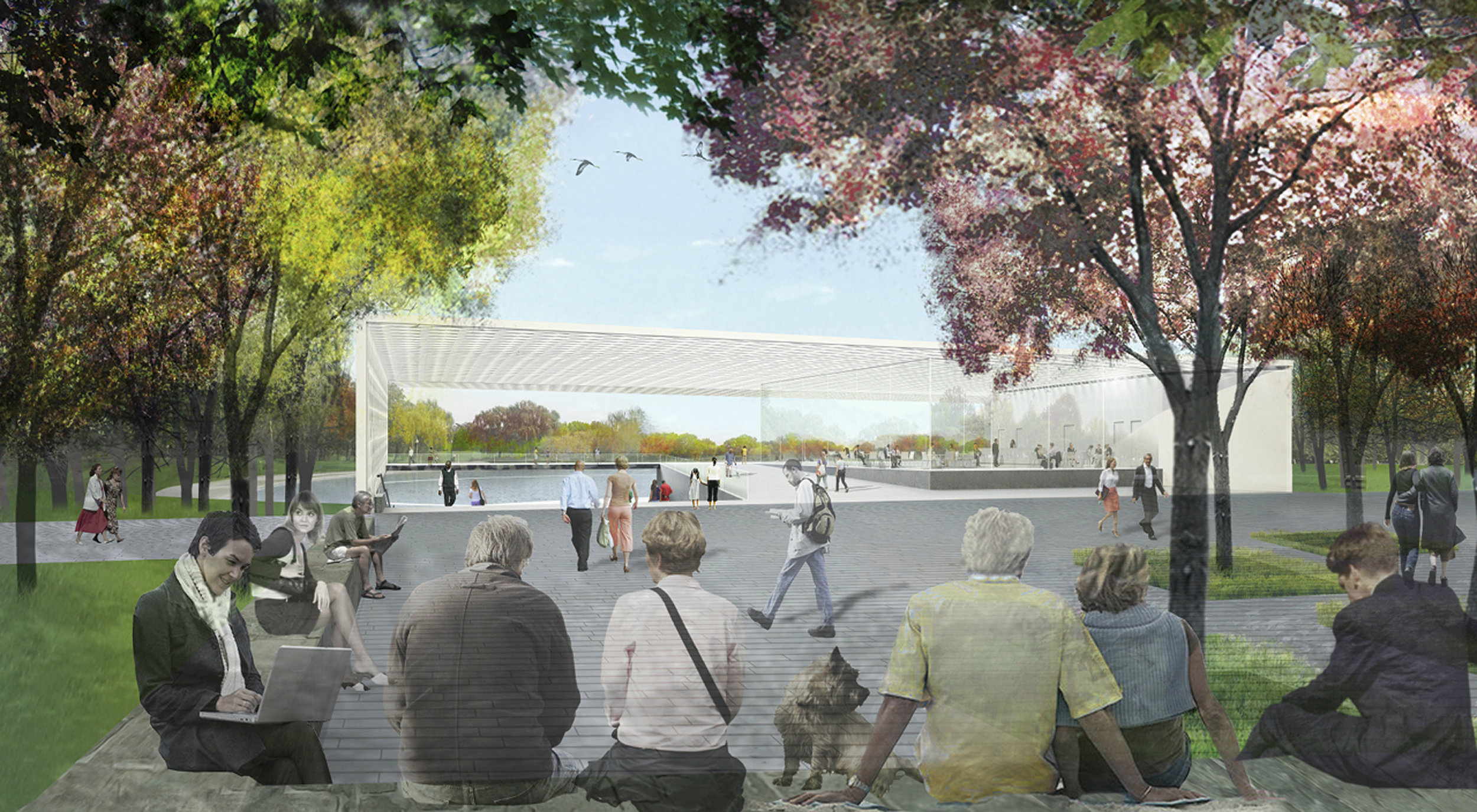 2013; Before and After; Constitution Gardens Pavillion 2017.jpg