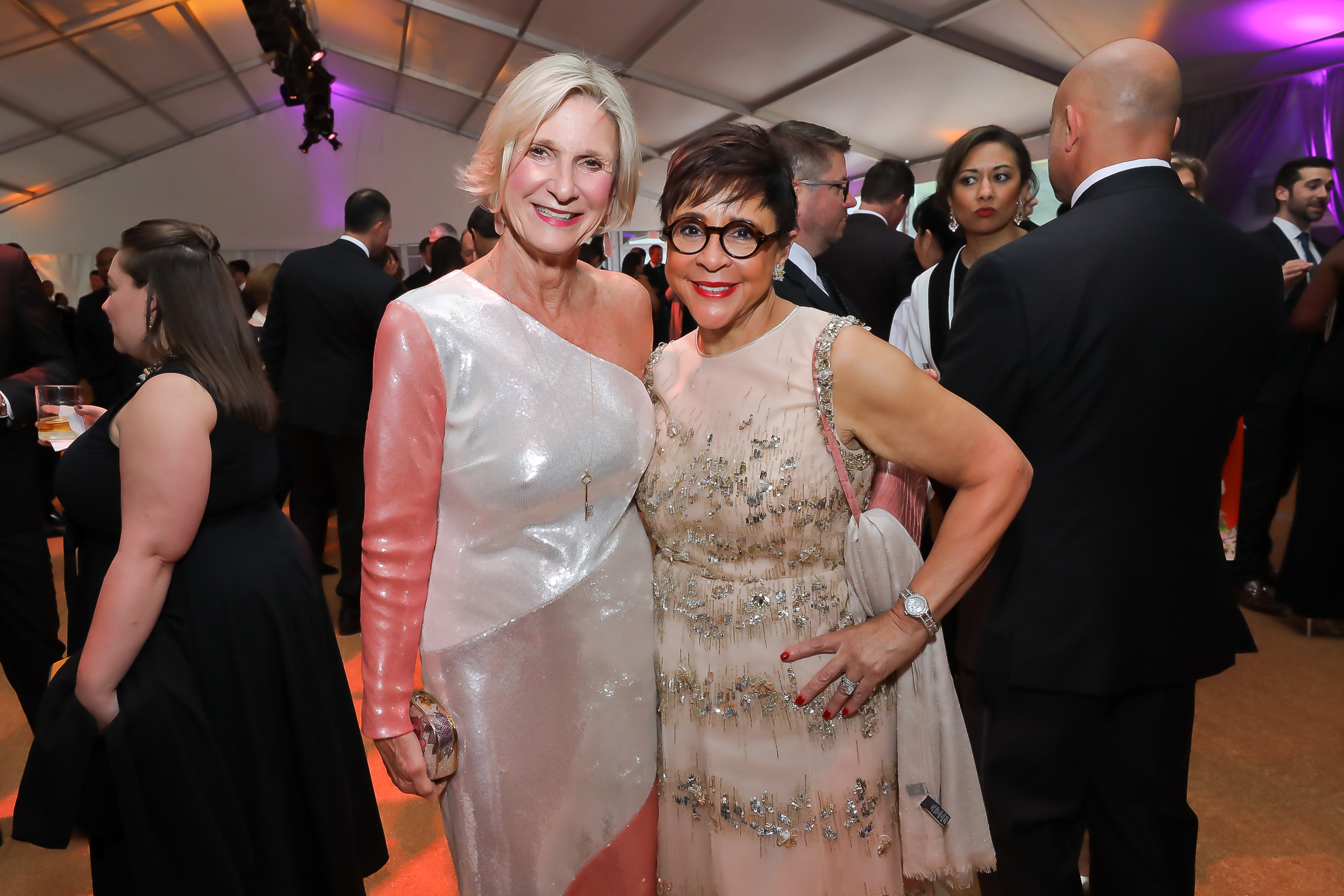 Sally Akridge and Sheila Johnson