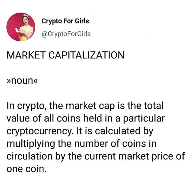 For example, the market cap of Bitcoin today is $154 billion ! 😱 . Word of the Day: Market Capitalization 💹 #cryptoforgirls #wordoftheday . . . . . #crypto #cryptocurrency #fintech #finance#blockchain #bitcoin #blockchaintechnology#cryptocurrencies #currency #investing #investor#trading #tech #technology #learning #educate#todayilearned #guides #girlboss #bossbabe#womeninstem #girlsinstem #girlpower