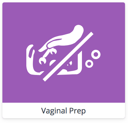 "VAGINAL PREPARATION DURING CESAREAN BIRTH   A ""vaginal prep"" means cleaning the vaginal canal with antiseptic can help prevent an infection prior to a cesarean birth. Some medical facilities only do a vaginal prep if the amniotic sac is ruptured before birth and some prep all non-emergent cases. Your care provider may inform you they are doing it or they may not. It's important to know you can consent to or refuse this procedure."