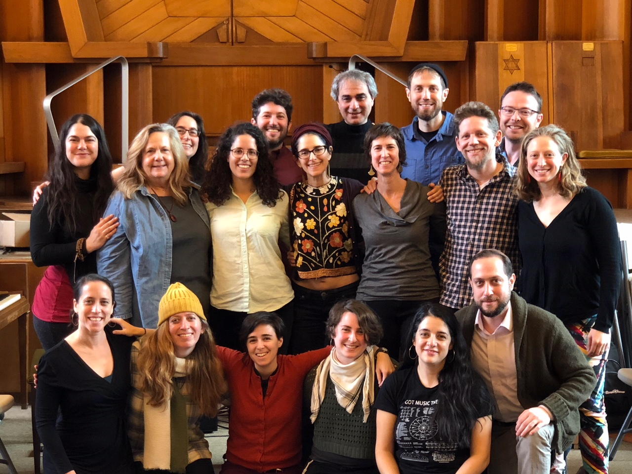 The 2018-19 Rising Song Fellows at their first retreat, February 2018.