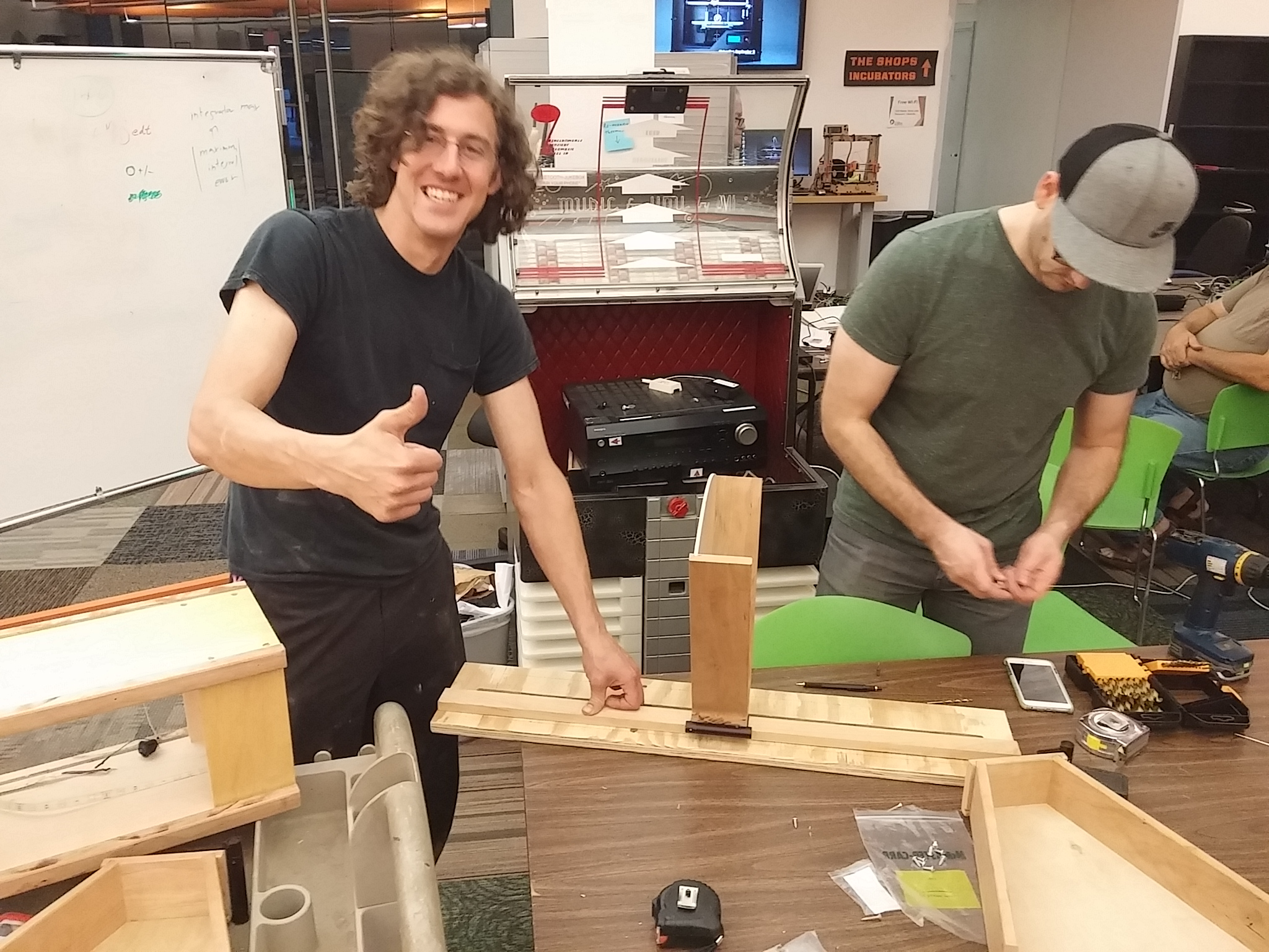Mike and Callye Building an automated shelf-shifting cabinet for those with limited reach