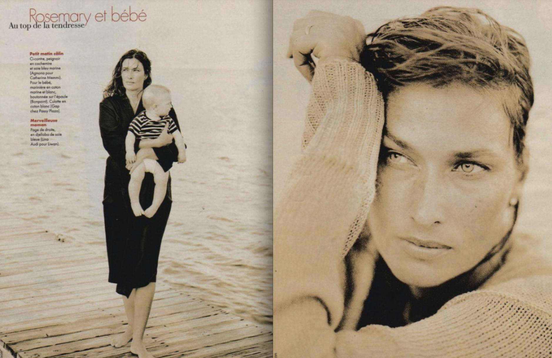 ROSEMARY McGROTHA ELLE FRANCE 1996 - PHOTO PHILLIP DIXION