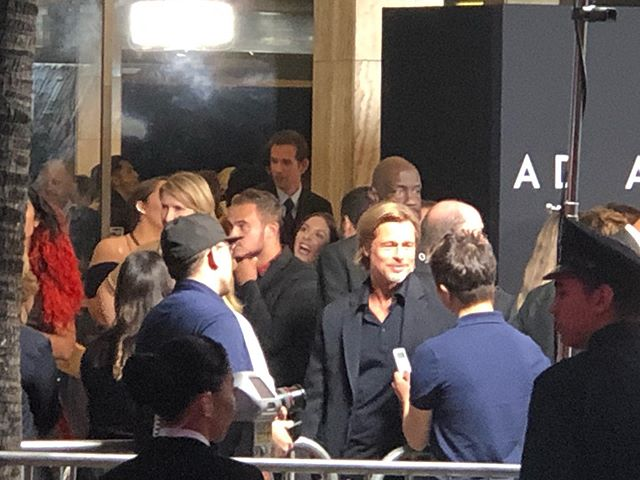 Celeb sighting on my way home! #actor #bradpitt for his premiere off @adastramovie #thecineramadome at Sunset Blvd #sunset  #sunsetblvd #adastramovie  #hollywood . . . . . . . . #inspiration  #model #stylist #freelancehairstylist #hairdresser #redcarpet #photography #TWGartists #fashionphotography #celebrity #famous #trend #fbf #fashionblogger #lovemyjob