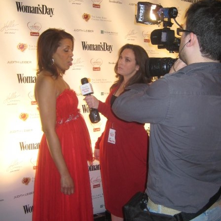 Interview on the red carpet at the Woman's Day Red Dress Awards