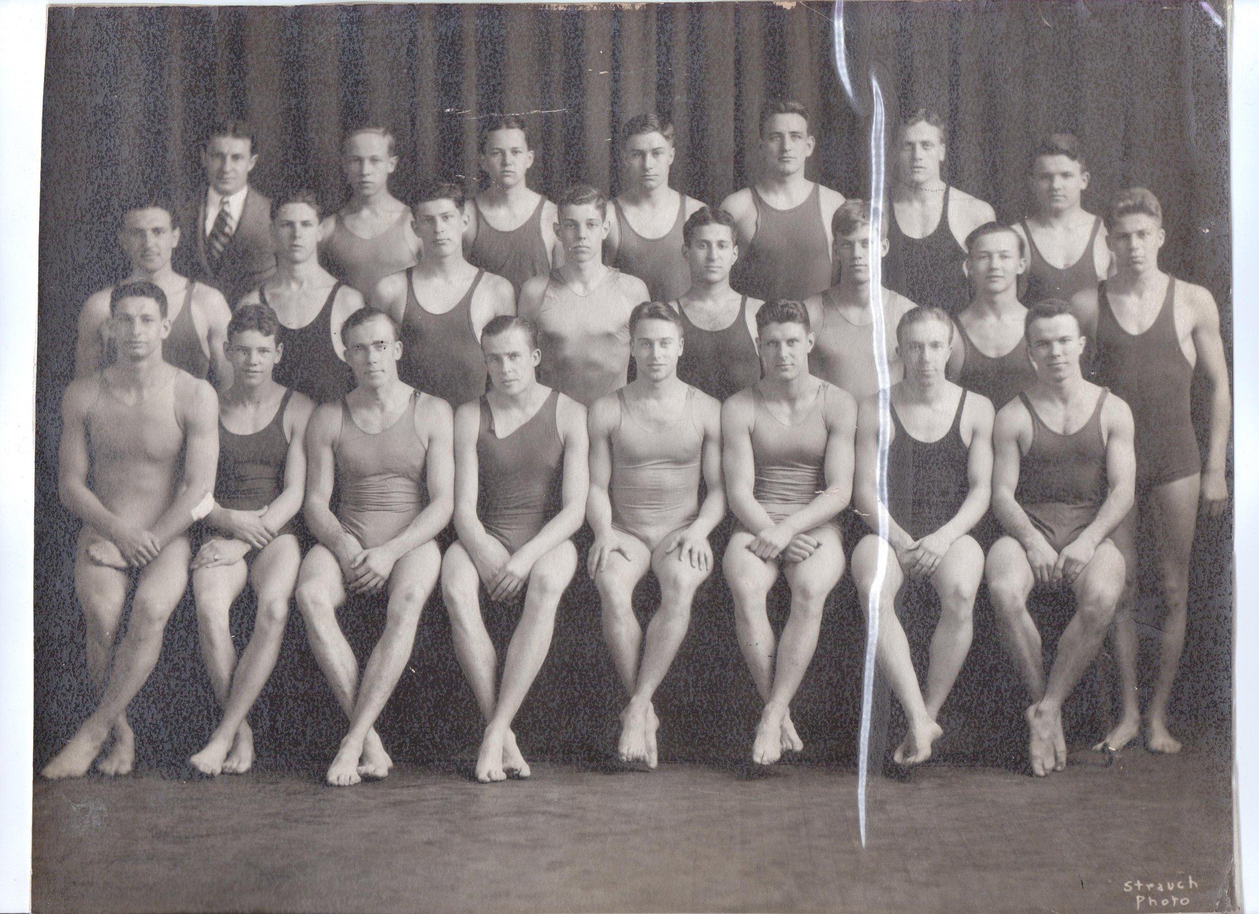 swimmers and Joe Brock 2nd row number 6.jpg