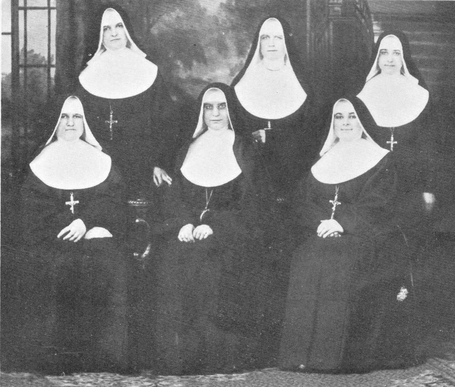 Nuns '26Juraj, Gertrude, Ambrozia sitting Innocencia, Salome, laurencia.jpg