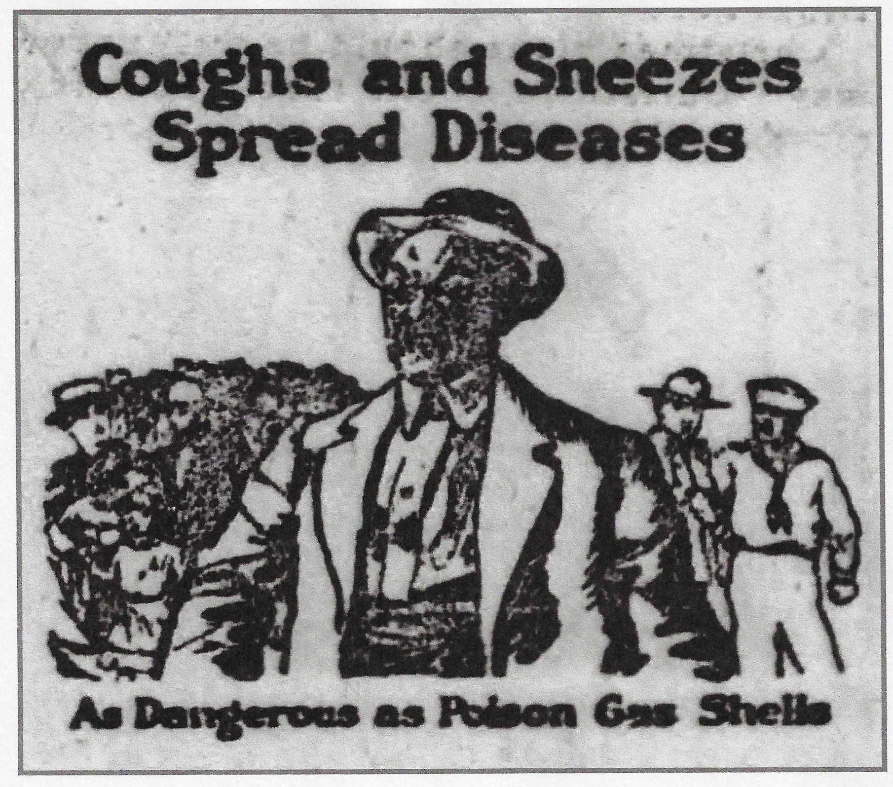 An ad that appeared in the  Lake County Times  in 1918 warned readers about the dangers of spreading influenza. In fact, more Whiting residents died of influenza in the last three months of 1918, than died in combat in World War One.