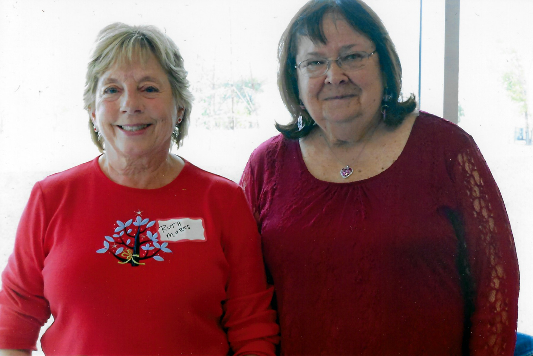 Ruth Mores (left) of the Hammond Historical Society was the guest speaker at the October 2018 meeting of the Whiting-Robertsdale Historical Society. With her in this photo is Priscilla McCarty-Reed, president of the Whiting-Robertsdale Historical Society.