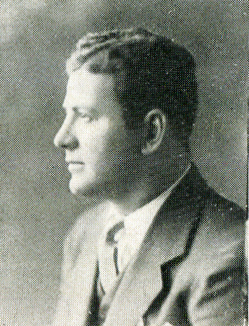 A 1931 photo of Whiting football coach Raymond P. Gallivan.