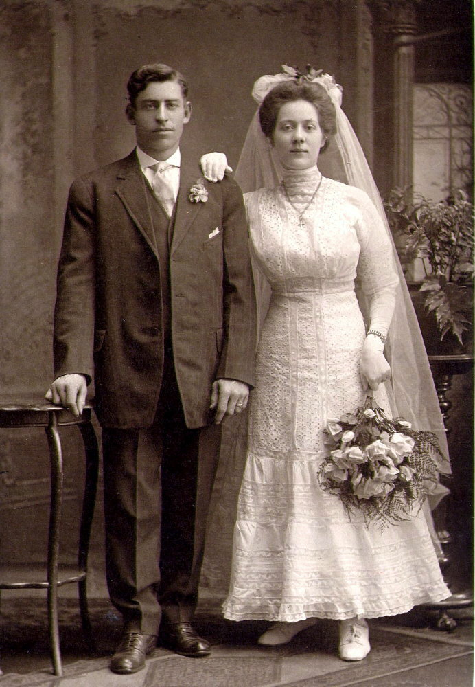 Fred and Ida Vogel were married in 1910.