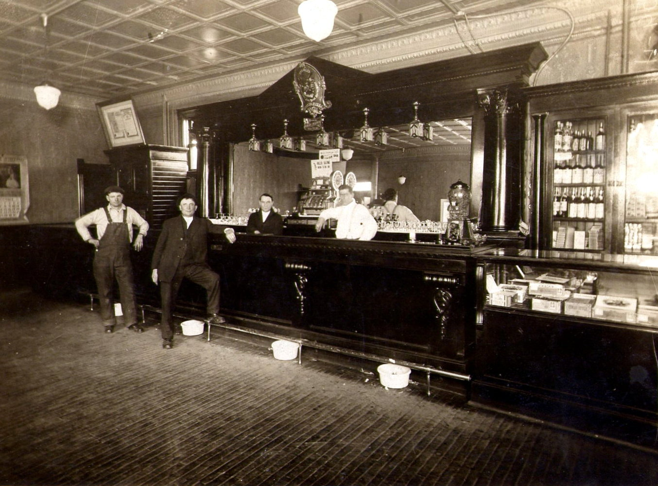 The Vogel's owned a boardinghouse, which contained a saloon.