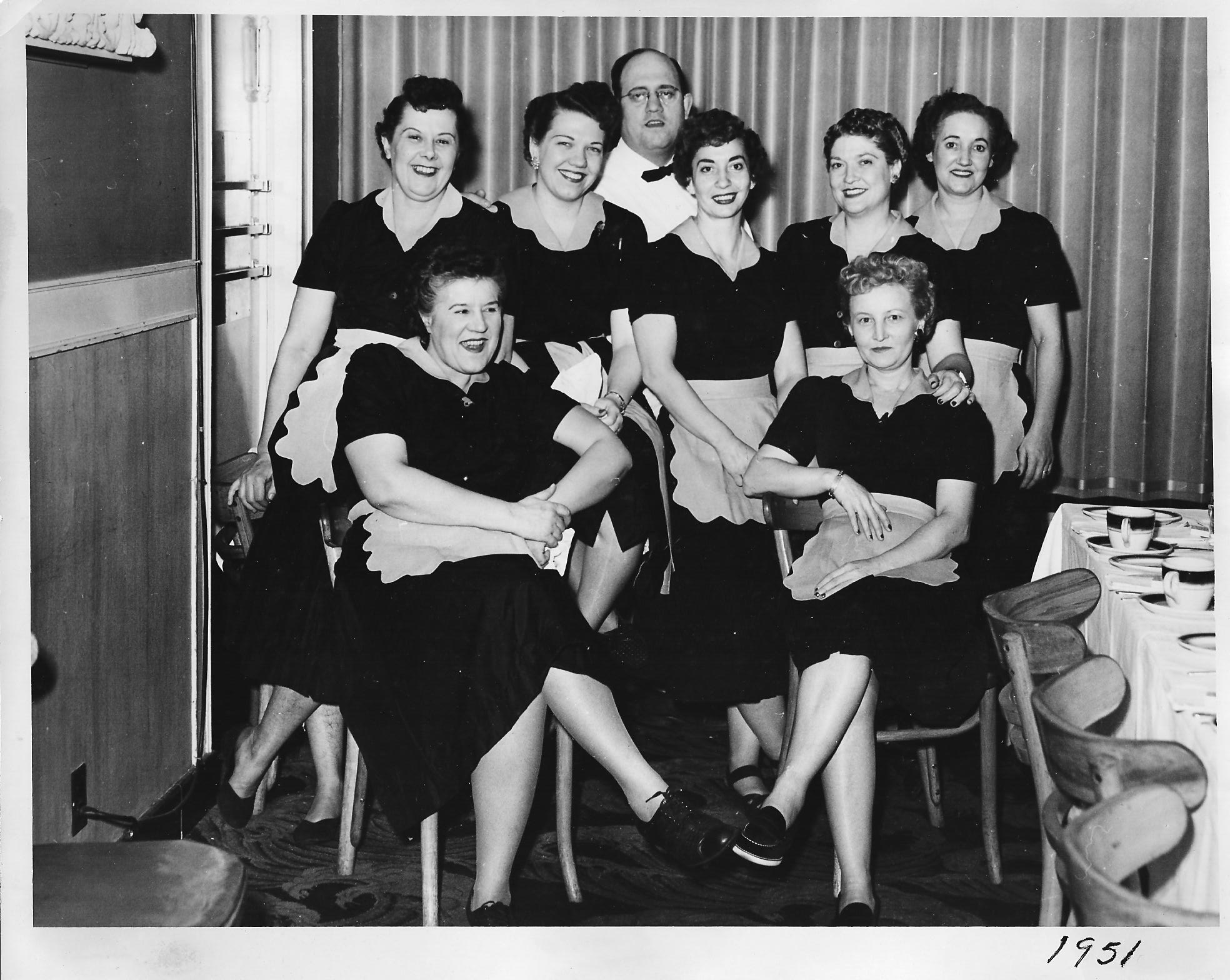 Waitresses at Phil Smidt's in 1951.