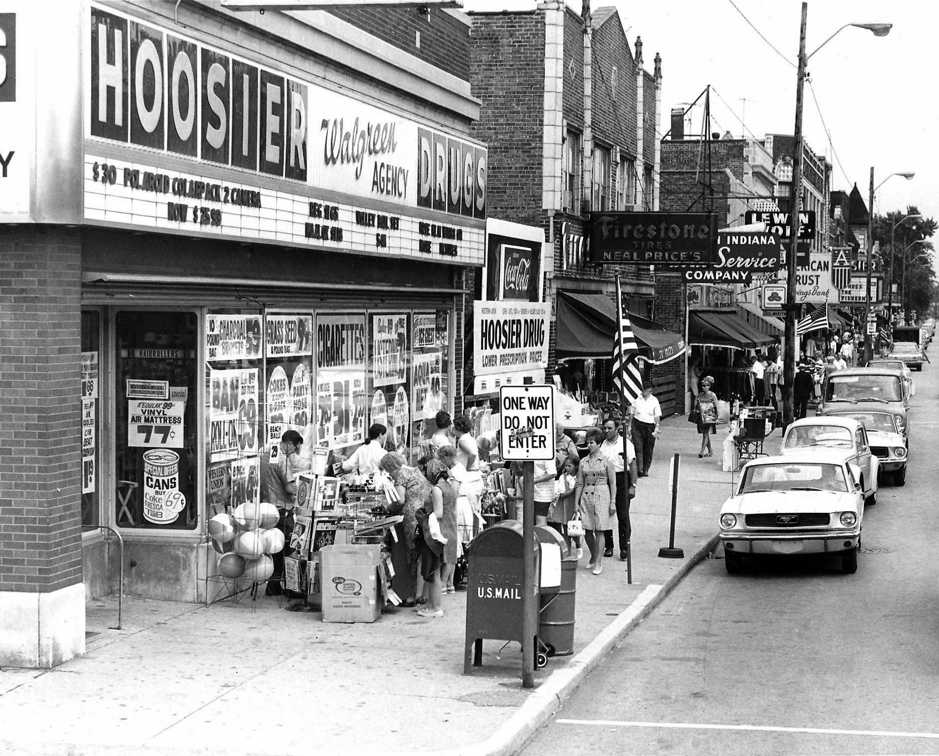 1301 119th Street is the home of CVS Pharmacy today, after being Fagen Pharmacy in recent years. But before that, it was Hoosier Drugs, and even further back, some can remember it as the National Tea grocery store. This photo is from 1969. (Lovasko Studio photograph)