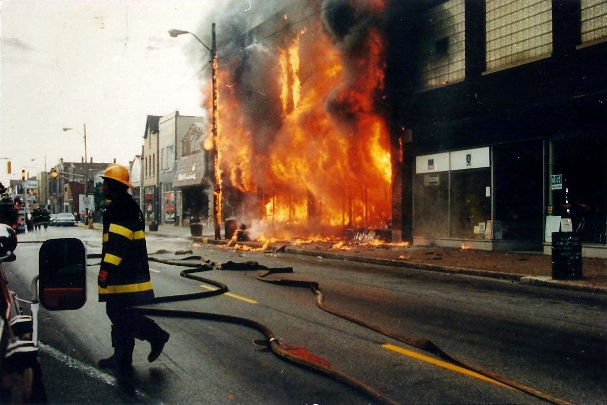 No single event shaped the face of downtown Whiting more than the July 1980 fire which started in the J.J. Newberry store. It destroyed six businesses, which were in the vicinity of today's Dollar Tree store at 1410 119th Street.
