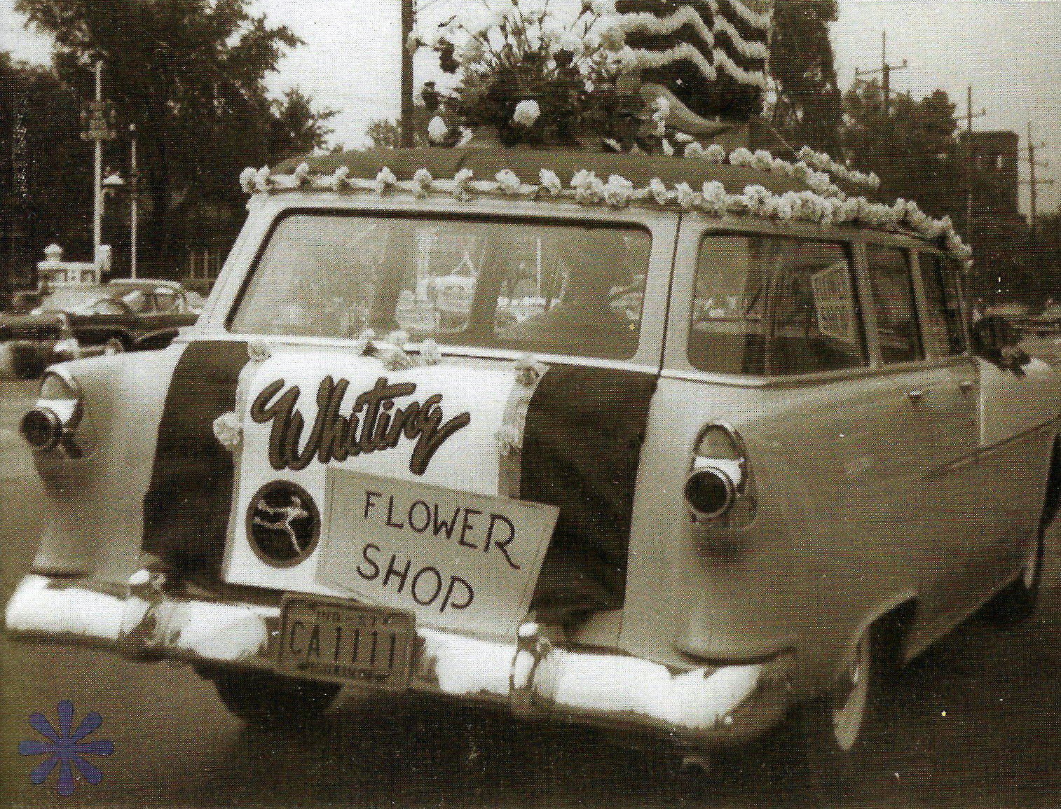 The Whiting Flower Shop is one of the city's oldest businesses. It began in the first decade of the 20th century when Louis Klemm sold flowers out of a horse-drawn cart. It moved to 119th Street, and during the Depression it sold bread and penny candy to help make ends meet. The photo above is from 1957