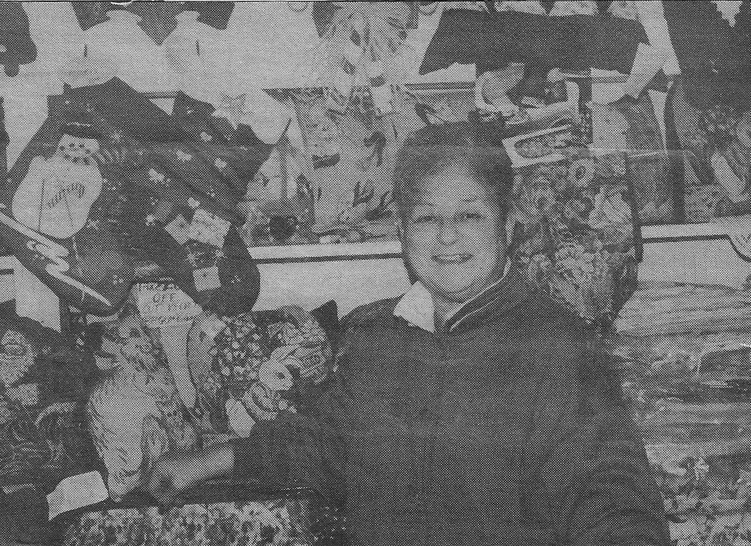 Anne's Linens (1419 119th Street) had been on 119th Street for 39 years when owner Anne Daniele posed for this 1994 photo, making it one of the oldest businesses on the street at the time. (Linda Rich photograph)