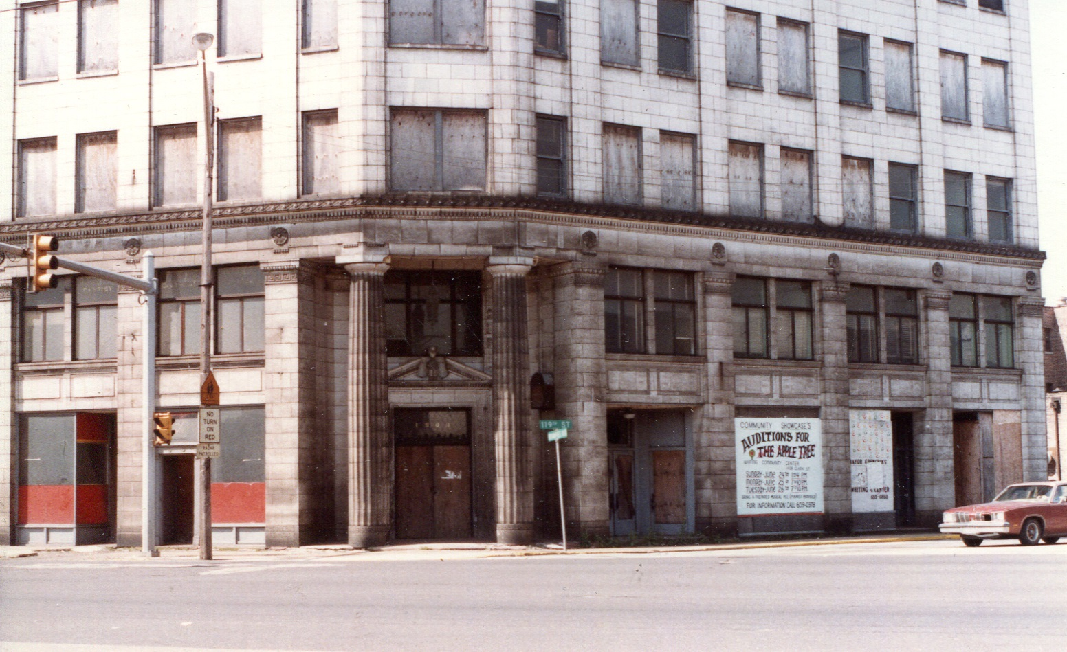 After all the businesses moved out, the once grand Central State Bank Building became an eyesore on the southwest corner of Indianapolis Boulevard and 119th Street, with its windows boarded up.