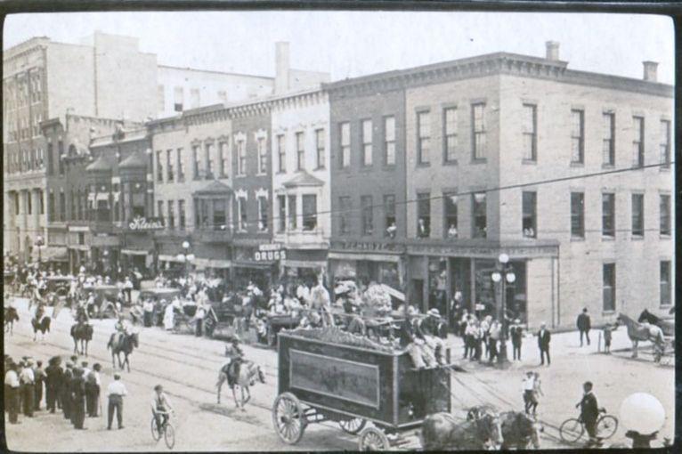 La Porte Indiana parade circa 1914