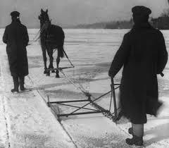 Ice Harvesting - Historic Photo