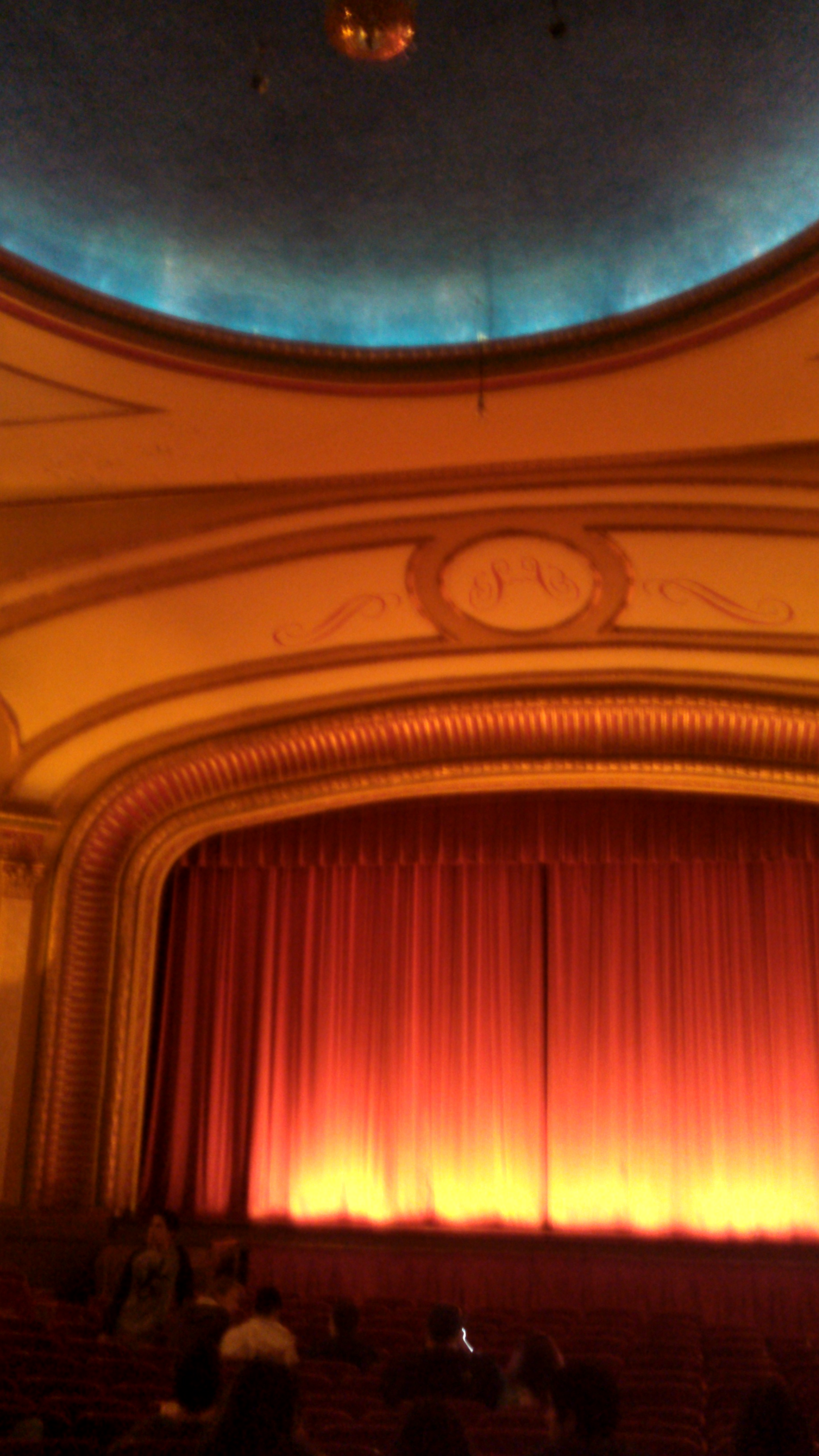 Even if the movie is boring, look up and look around inside the theater to appreciate how nice movie houses used to be.
