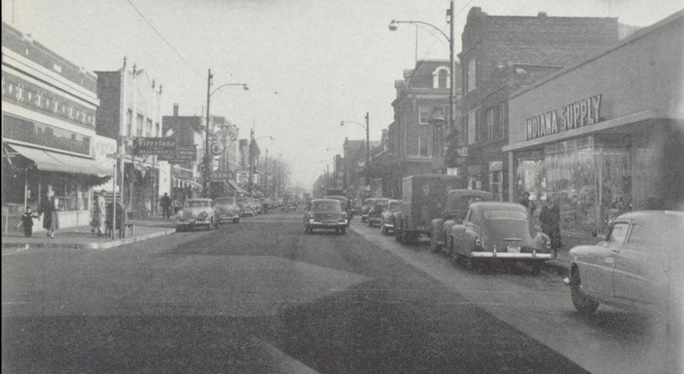 Looking East on 119th from Central Ave._1954.jpg