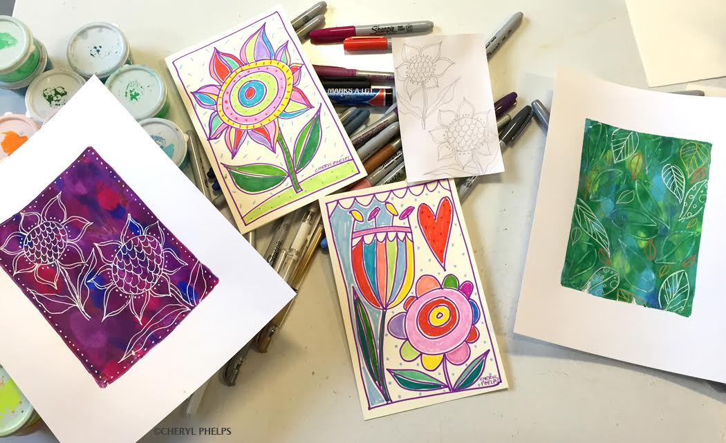 """Spring Has Sprung"" Make and Take Greeting Card Class"