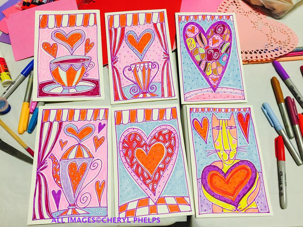 Valentine's Day Make and Take Greeting Card Class