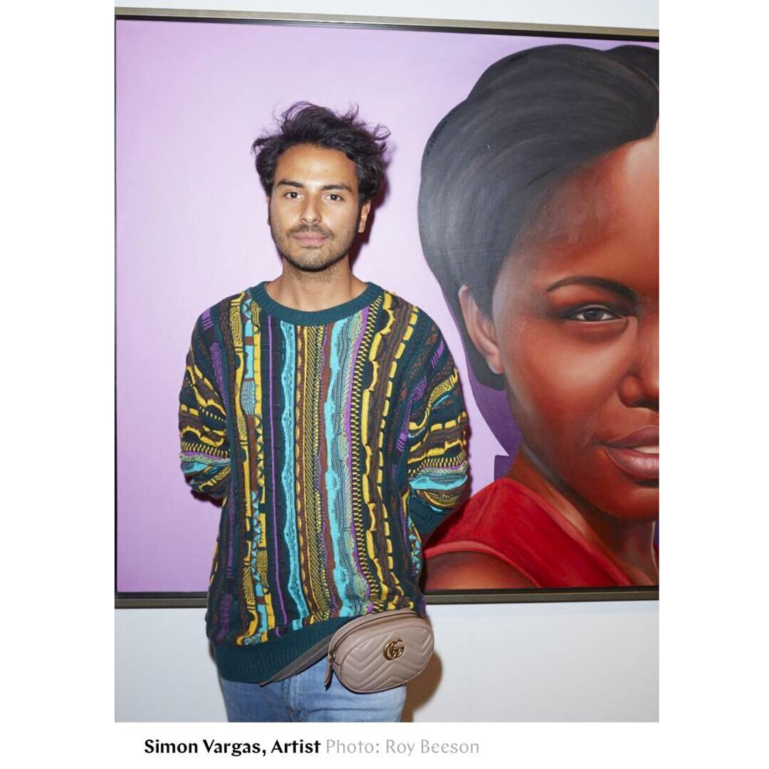 Simon as a featured artist at AAFNYC in New York Magazine. April, 2019
